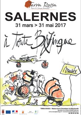 Affiche de l'exposition de céramiques : A toute Berzingue, Musée Terra Rossa, Salernes
