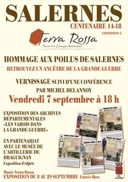 Affiche de l'exposition : Hommage aux Poilus de Salernes