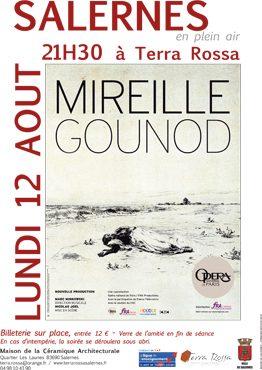 Mireille un opéra de Charles Gounod. Ciné opéra, Cinéma en plein air dans les jardins de la maison de la céramique Terra Rossa, Salernes