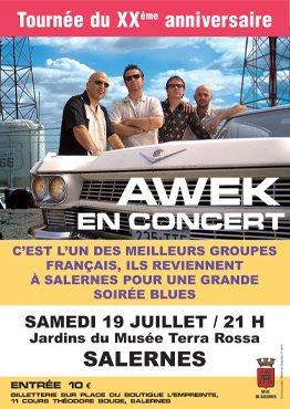Affiche du concert AWEK au musée de la céramique Terra Rossa à Salernes, 2014