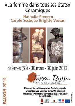 Affiche de l'exposition de céramiques, la femme dans tous ses états