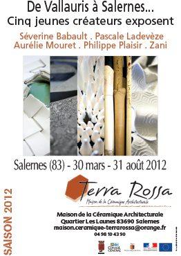 Affiche de l'exposition de céramiques De Vallauris à Salernes...