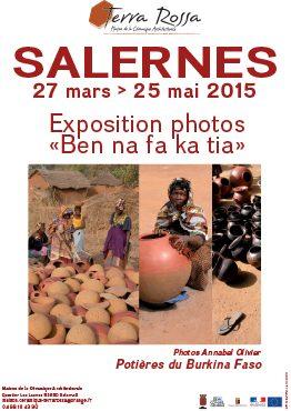 Affiche de l'exposition de photos : Ben na fa ka tia, potières du Burkina Faso