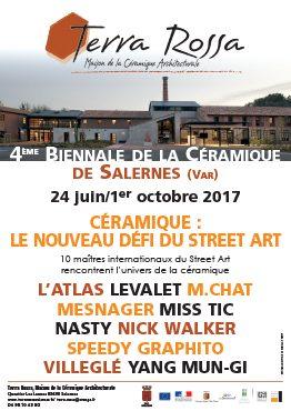 Affiche de l'exposition de céramiques : Céramique: le nouveau défi du street art