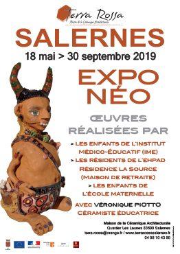 Affiche de l'exposition Terres Varoises, 1000 ans de céramique à Terra Rossa. du 18 mai au 30 septembre 2019. Oeuvres en céramique