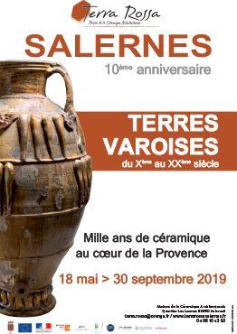 Affiche de l'exposition Terres Varoises, 1000 ans de céramique à Terra Rossa. du 18 mai au 30 septembre 2019