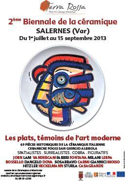 Affiche de la deuxième biennale de la céramique à Salernes, en 2013