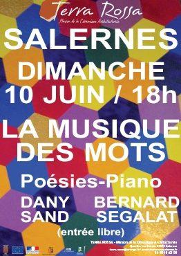Concert des musique et des mots, Dany Sand et Bernard SEGALAT, Maison de la céramique Terra Rossa, Salernes