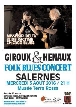 Concert GIROUX et HENAUX Maison de la céramique Terra Rossa, Salernes