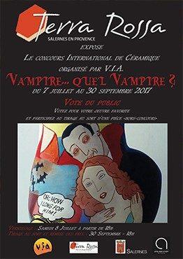 Affiche du concours international de céramique 2017 organisé par le VIA, Maison de la céramique Terra Rossa, Salernes