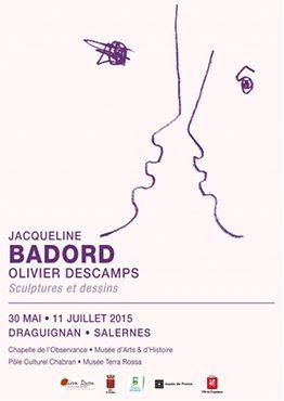 Exposition, Maison de la céramique Terra Rossa, Salernes de Jacqueline Badord et Olivier Deschamps, sculpture et dessin