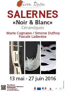 Noir et blanc, une exposition Maison de la céramique Terra Rossa, Salernes en 2016