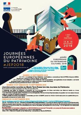 Affiche des journées européennes du patrimoine Maison de la céramique Terra Rossa, Salernes 2018