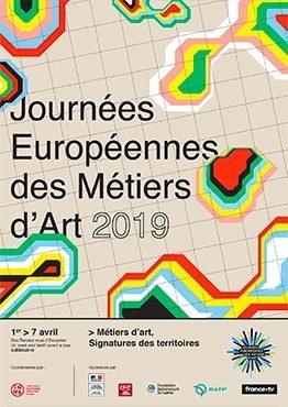 Affiche des journées européenne des métiers d'art 2019 Maison de la céramique Terra Rossa, Salernes